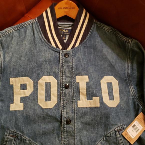 5d24b821a4f3 Ralph Lauren Varsity Denim Jacket
